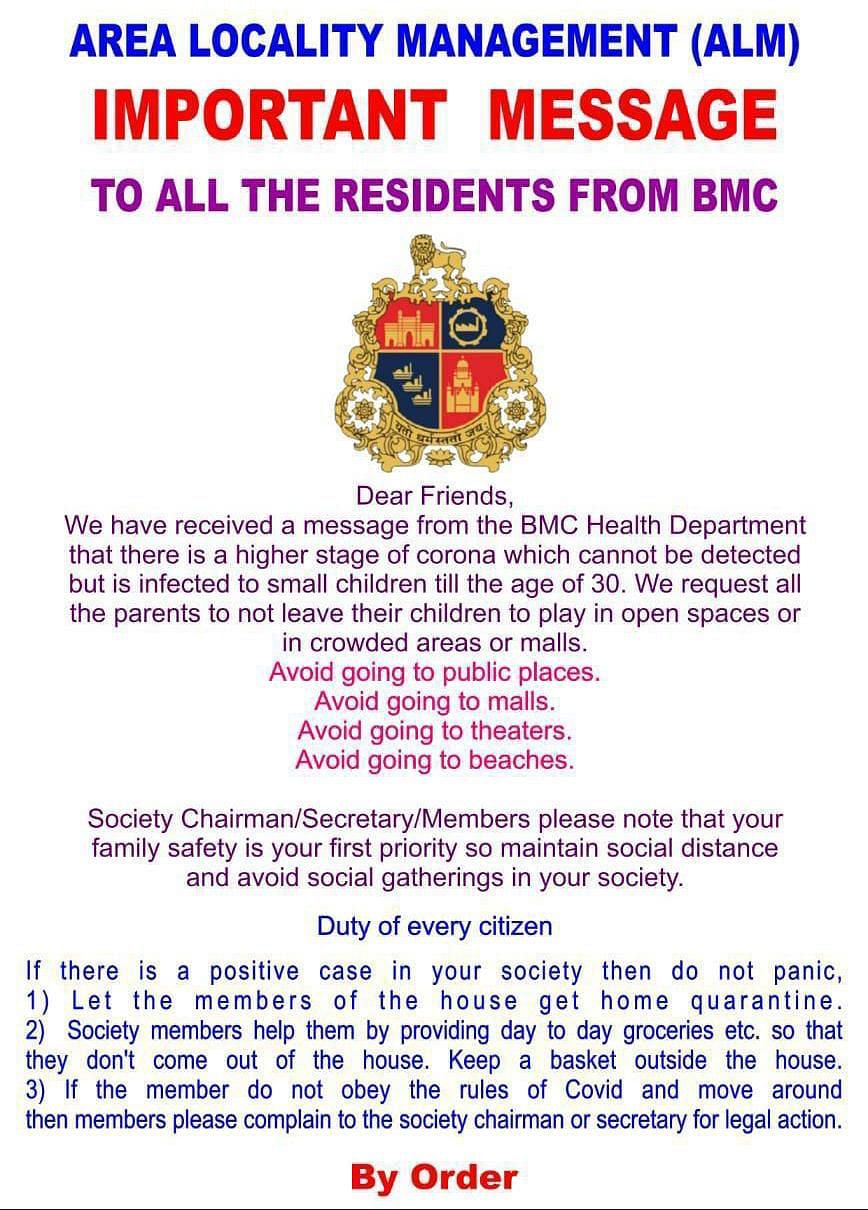 Fake News Alert: BMC issues clarification after post on 'higher, undetected stage of corona' goes viral