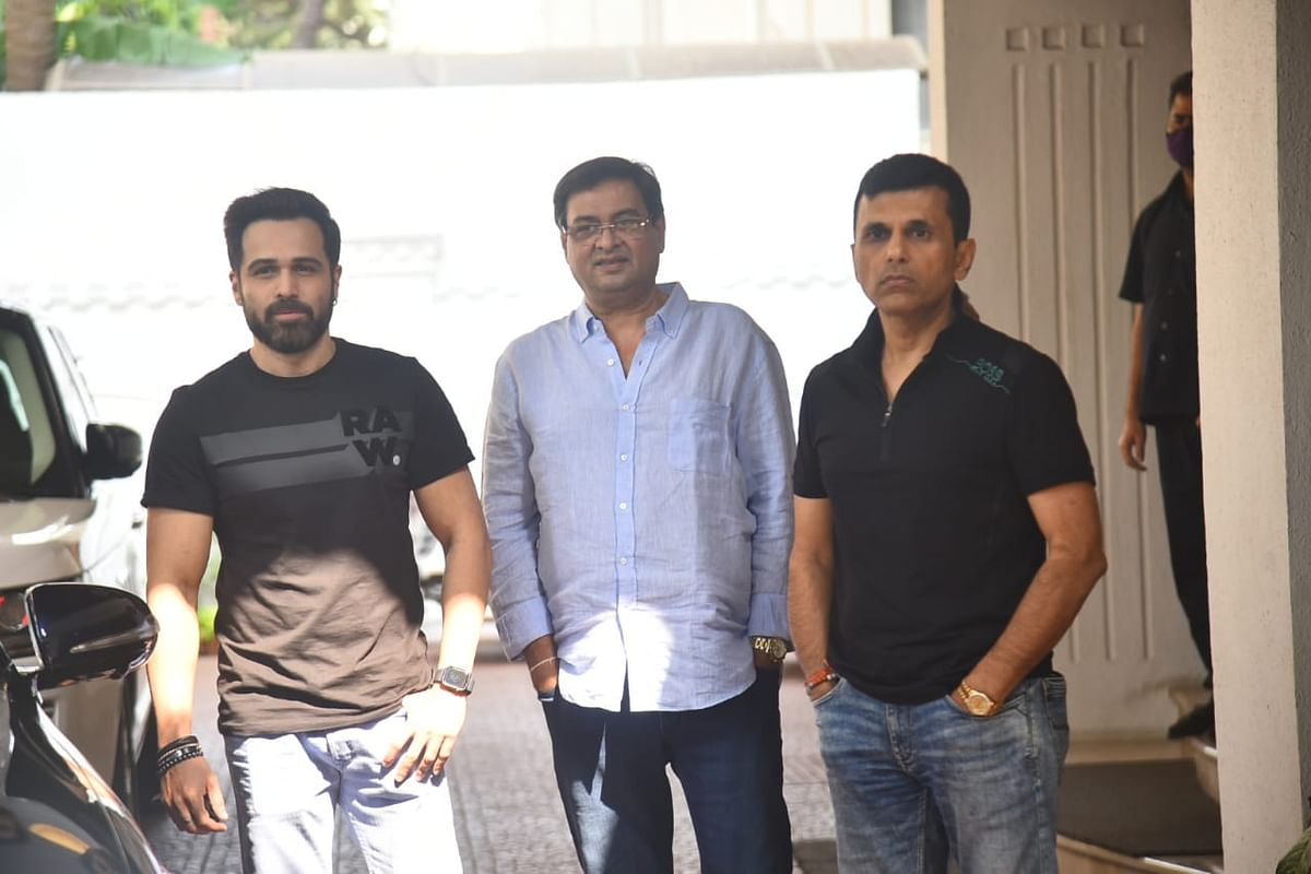 Emraan Hashmi with Rumi Jaffery, Anand Pandit
