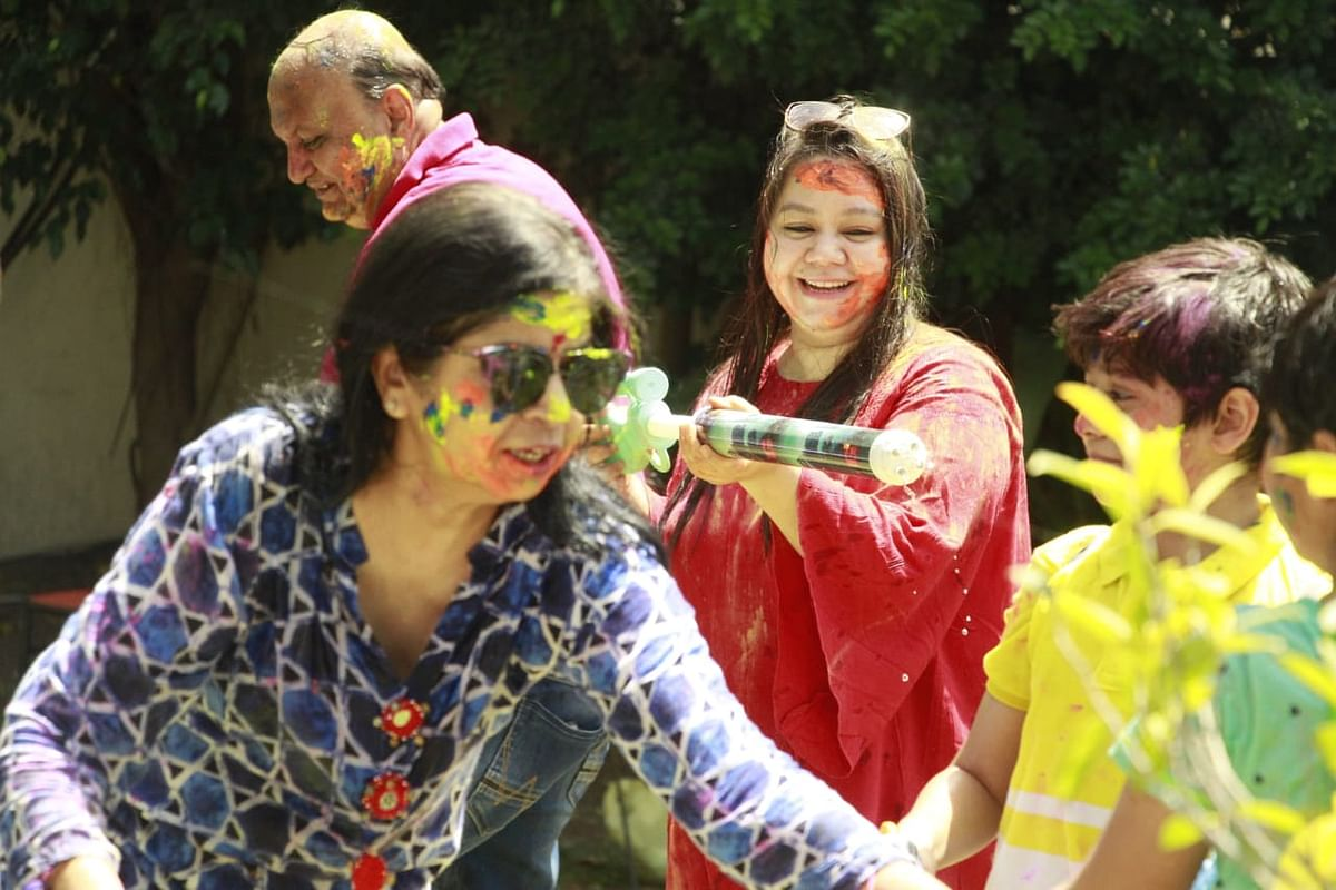 In pictures: Subdued Holi in Indore, Ujjain as Covid scare looms