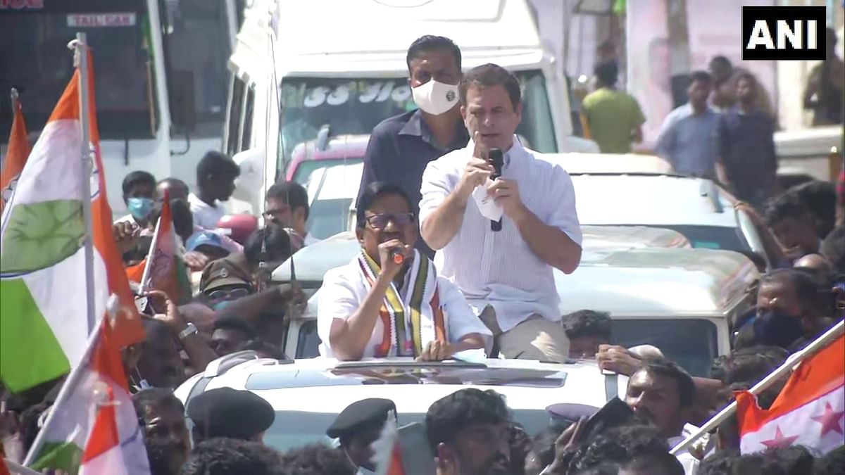 'CM must not let RSS...': Rahul Gandhi hits out at govt for not respecting Tamil culture