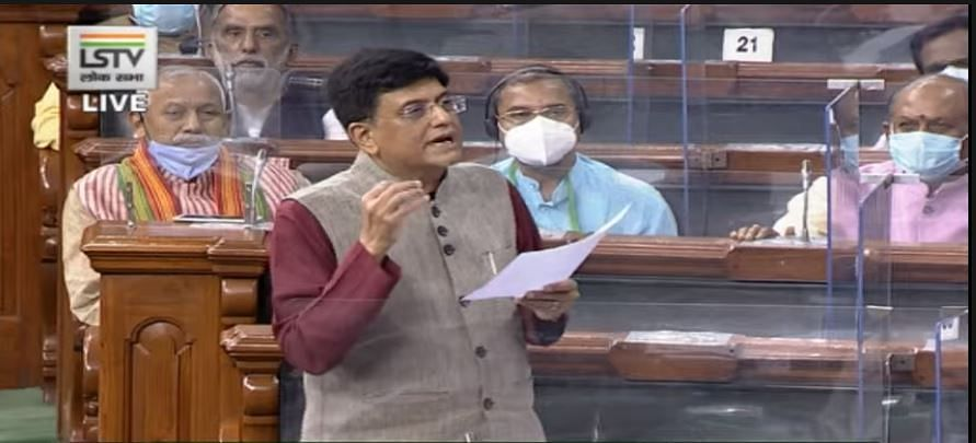 Railways Minister Piyush Goyal in Lok Sabha