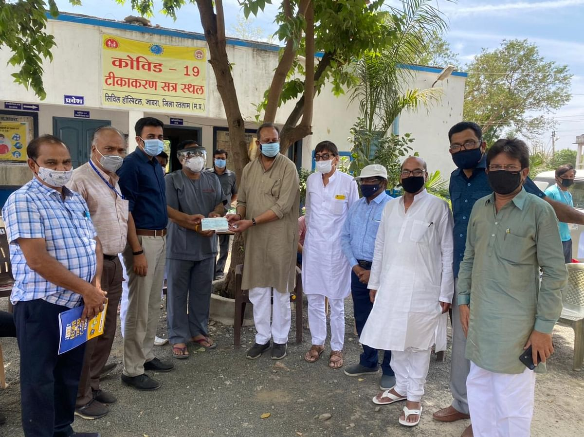 Madhya Pradesh: Philanthropists donate Rs 35L for the Jaora oxygen plant in 24 hours