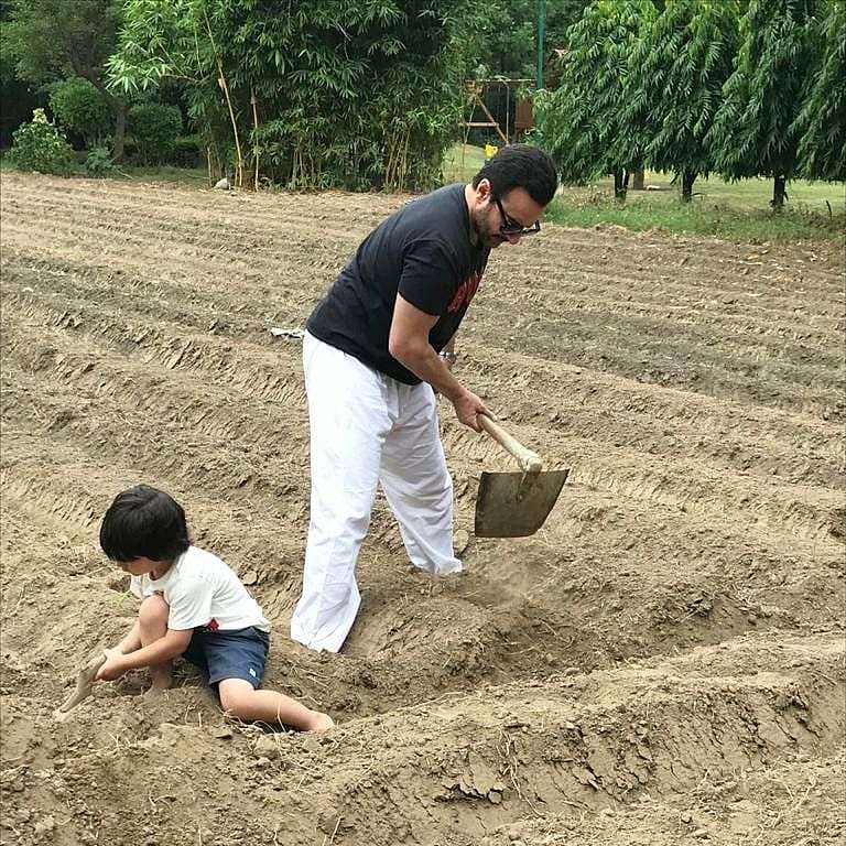 World Earth Day 2021: Kareena Kapoor shares pictures of her 'favourite boys' Saif and Taimur planting trees