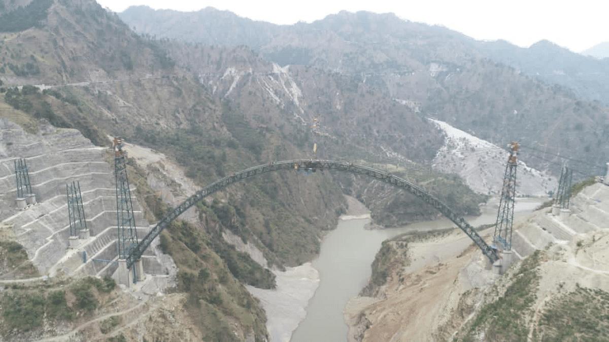 The arch of Chenab bridge