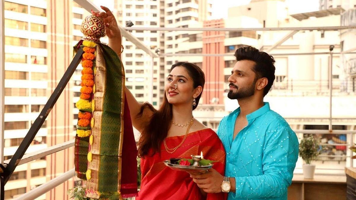 In Pics: Rahul Vaidya, Disha Parmar celebrate Gudi Padwa 2021