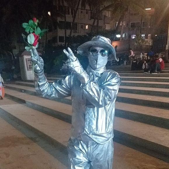Busking in glory: Meet Mumbai's 'living statues'