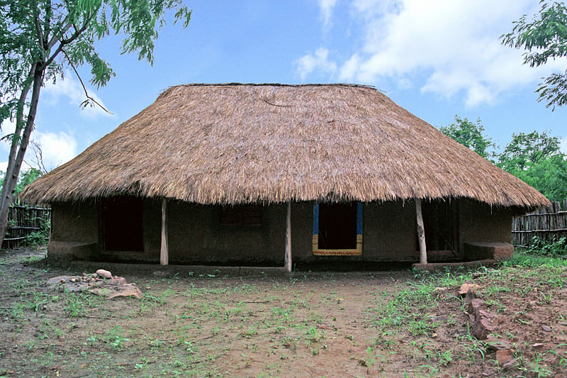 A traditional Jatapu tribal house of Andhra Pradesh