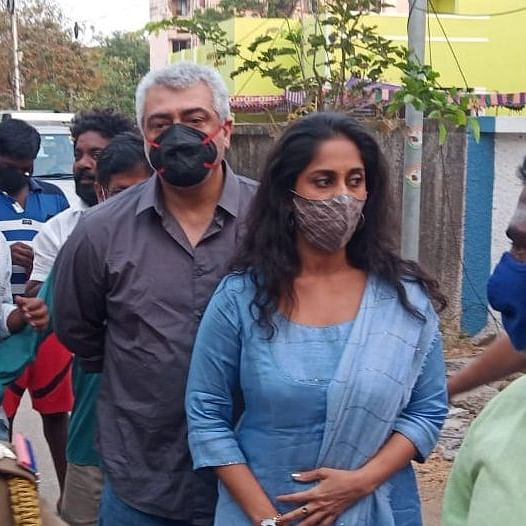 Watch: Tamil superstar Ajith Kumar snatches fan's phone at polling booth for not wearing mask