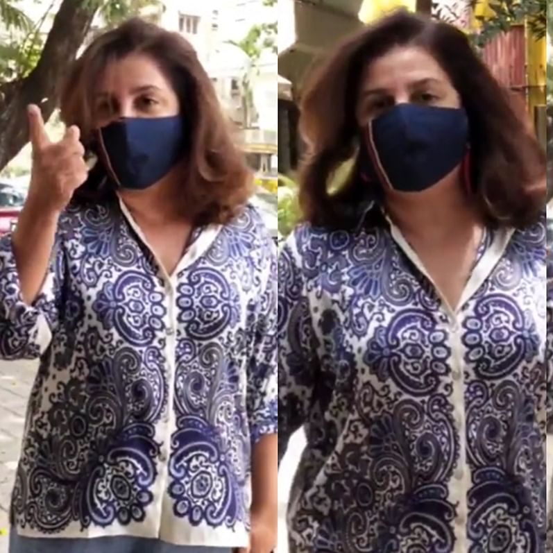 'Who recorded me smelling mangoes?':  Watch Farah Khan confront paparazzi over viral video