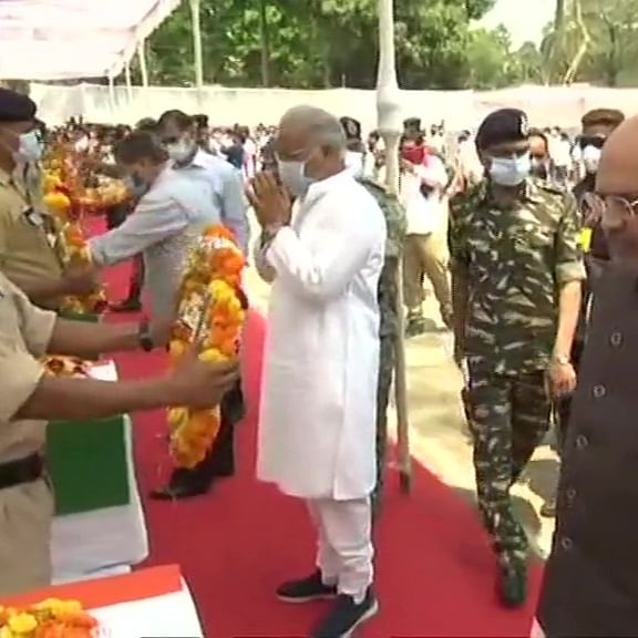Amit Shah, CM Bhupesh Baghel pay tributes to jawans killed in Chhattisgarh naxal attack