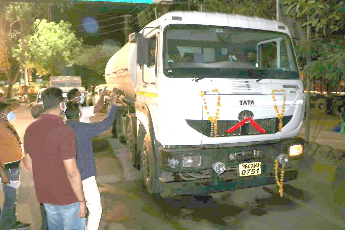 Madhya Pradesh: Much-needed oxygen reaches Indore from the Reliance plant