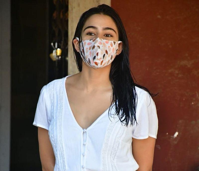 Sara Ali Khan has been sporting printed masks