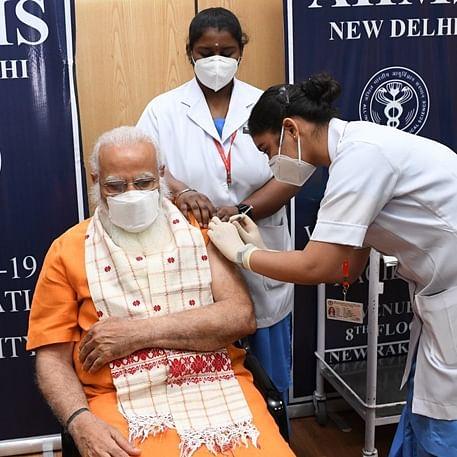 PM Modi takes second dose of COVID-19 vaccine at AIIMS