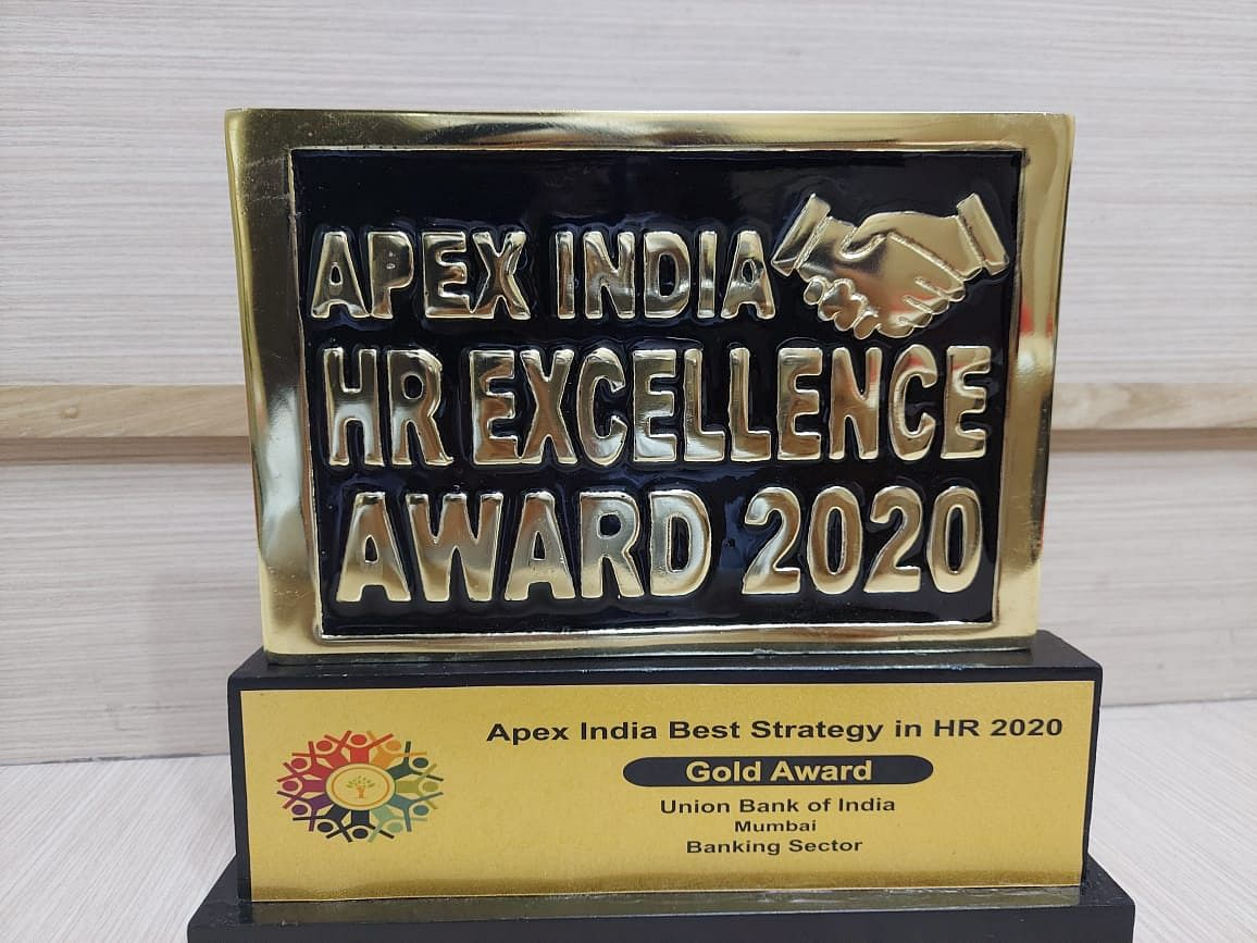 Union Bank of India wins Best Strategy in HR 2020 & HR Oriented CEO Award 2020
