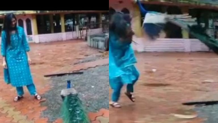 Watch: Actress Digangana Suryavanshi attacked by a peacock; video goes viral