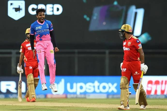 IPL 2021 Live Score: RR vs PBKS - PBKS 109-2 in 11.5 overs; Chris Gayle out after scoring 40; debutant Sakariya claims Mayank Agarwal for his first IPL wicket