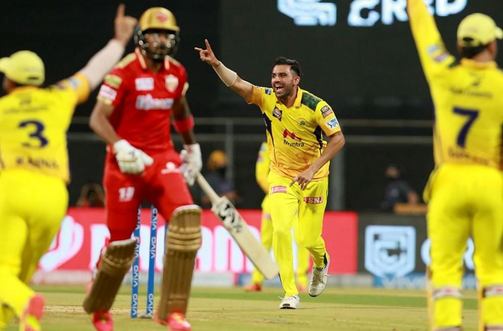 IPL 2021, CSK vs PBKS Live Score: PBKS - 106-8 in 20 Overs; SRK takes Kings past 100 after Gayle, Agarwal, Rahul depart early; Deepak Chahar takes 4 for 13