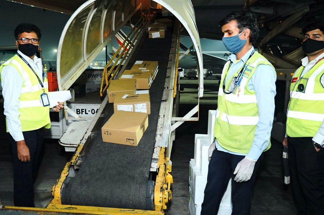 Flight from UK carrying vital medical supplies for COVID-19 arrives in India