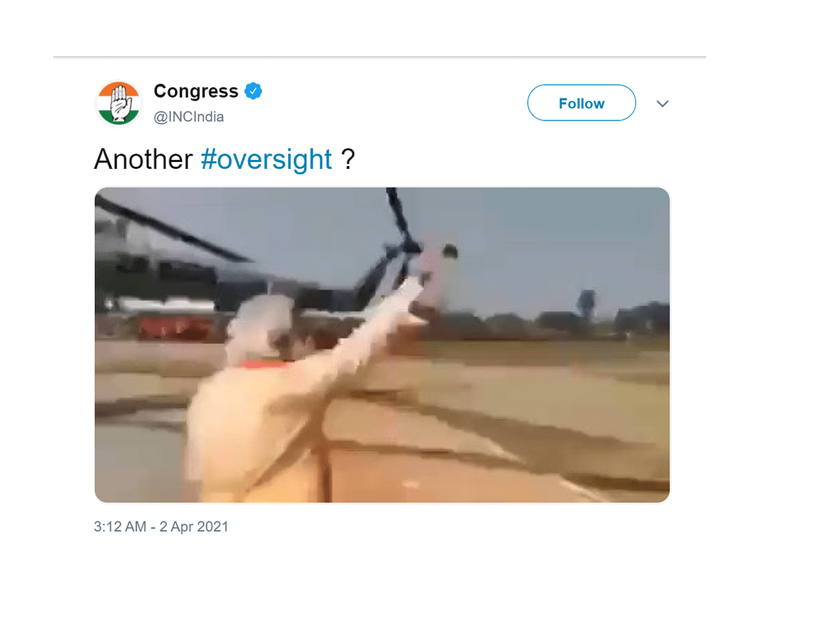 'Another oversight': Amid ongoing polls, Congress posts edited video of PM Modi waving to empty field; deletes tweet after being fact-checked