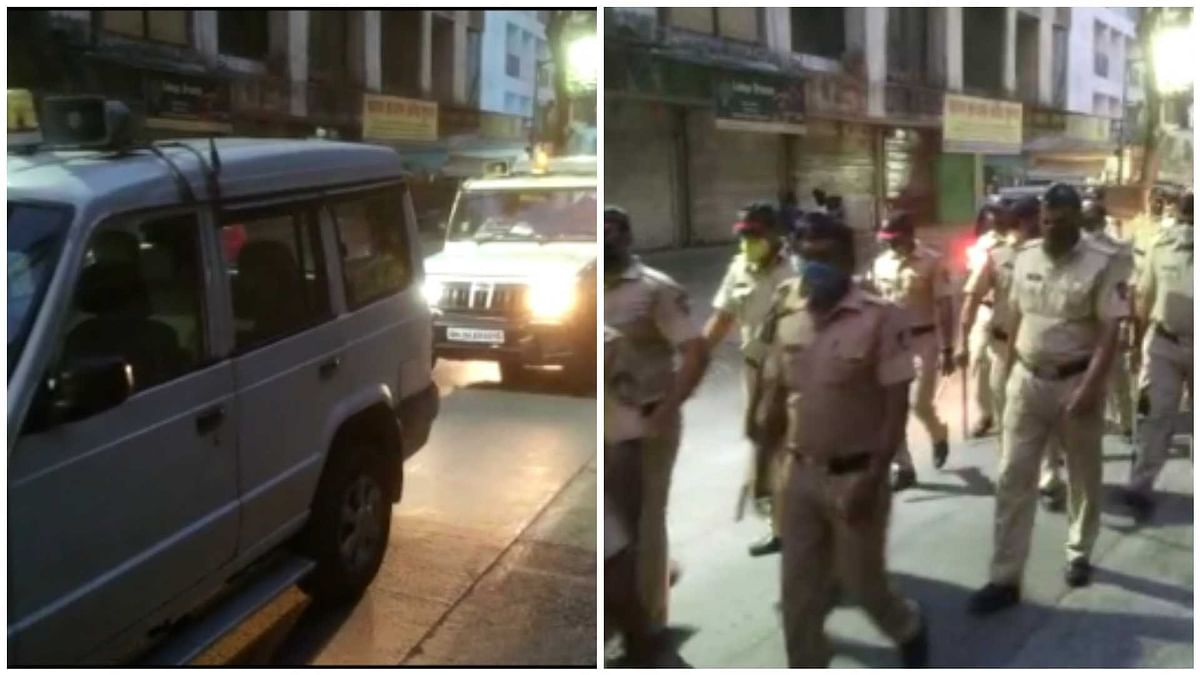 COVID-19: Route March by Thane police as night curfew kicks in
