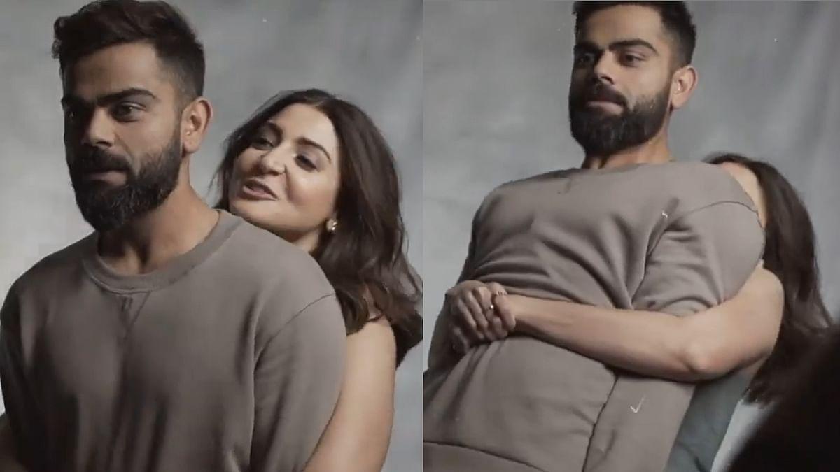 'Oh Teri': Virat Kohli stunned after Anushka Sharma lifts him up - watch video