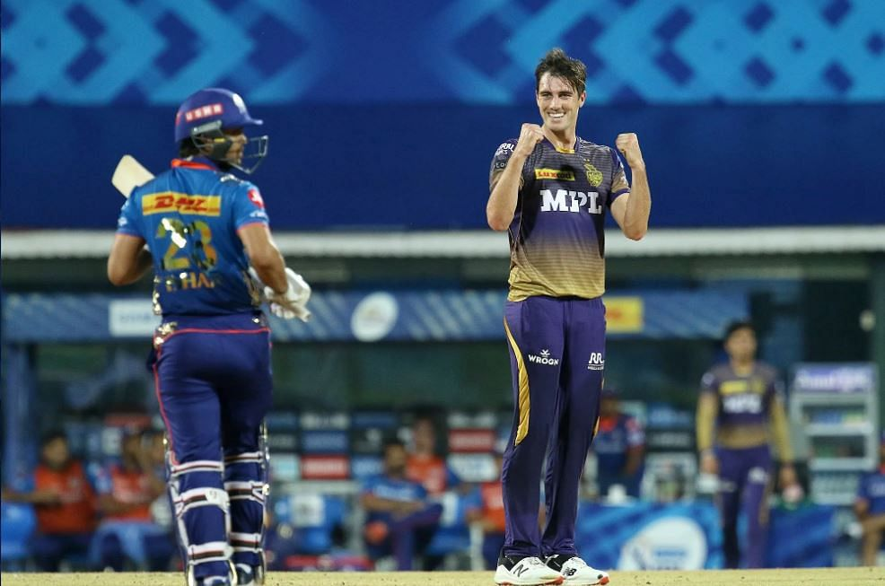 IPL 2021 Live Score: MI vs KKR - KKR 66-0 in 8 overs; Rana and Gill provide KKR steady start after Andre Russell picks up a fifer; Cummins and Co. restrict Mumbai Indians to 152-10