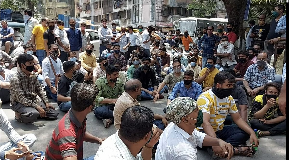 Mira Bhayandar: Shopkeepers protest against Maha lockdown