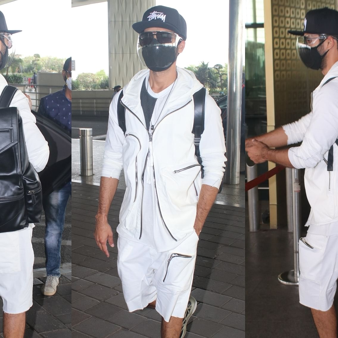 Shahid Kapoor flaunts Rs 2.2 lakh backpack in a dapper ensemble at Mumbai airport