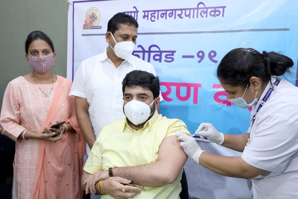 COVID-19: Third phase of vaccination drive starts in Pune; mayor Murlidhar Mohol takes jab