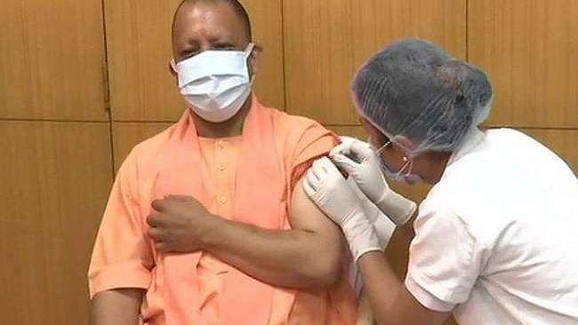 Uttar Pradesh CM Yogi Adityanath receives first shot of COVID-19 vaccine