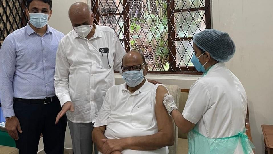 NCP chief Sharad Pawar receives second dose of COVID-19 vaccine