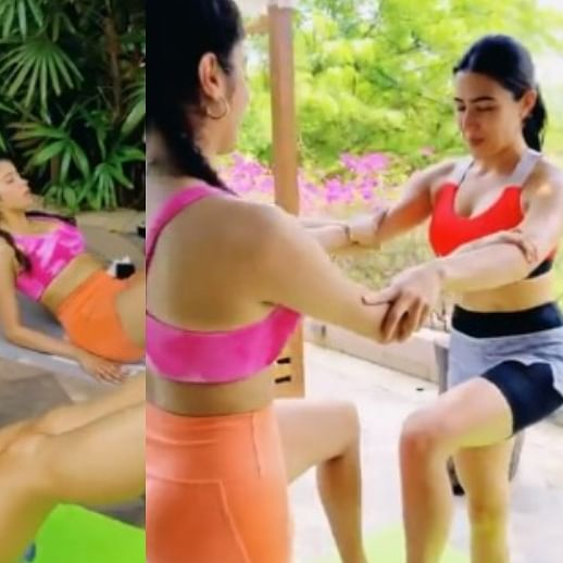 Watch: Sara Ali Khan, Janhvi Kapoor's workout video is the fitness motivation you need amid the lockdown