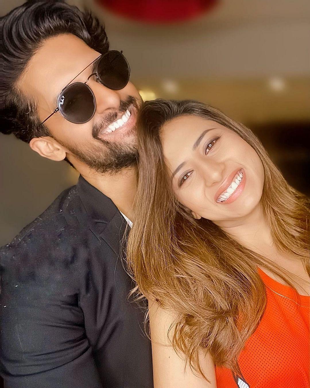 Ravi with wife Sargun Mehta