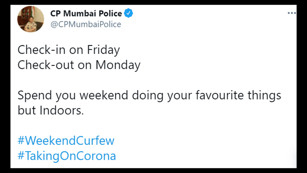 Mumbai Police Commissioner has a fun weekend to-do list for Mumbaikars; read HERE