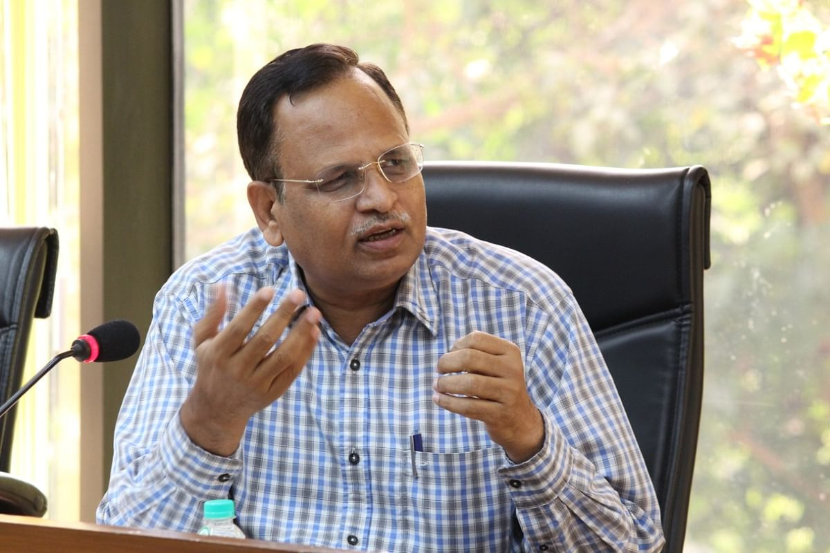 Delhi PWD Minister Satyendar Jain reviews beautification work done in Chandni Chowk