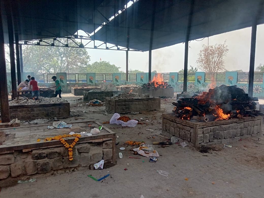 Ujjain: Corona kaal; electric furnace succumbs to pace of death