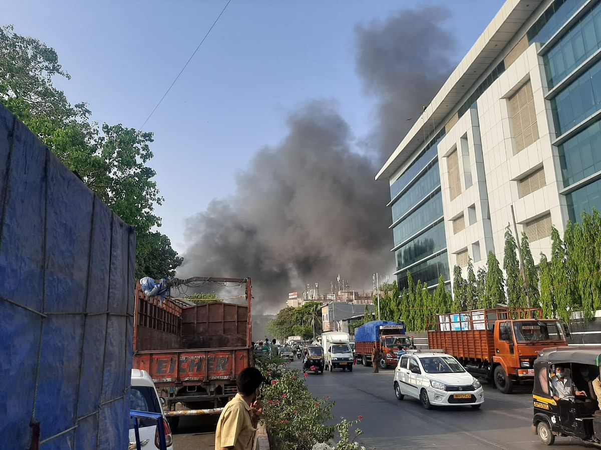 Mumbai: Massive fire breaks out in scrap godown in Kurla; Watch video