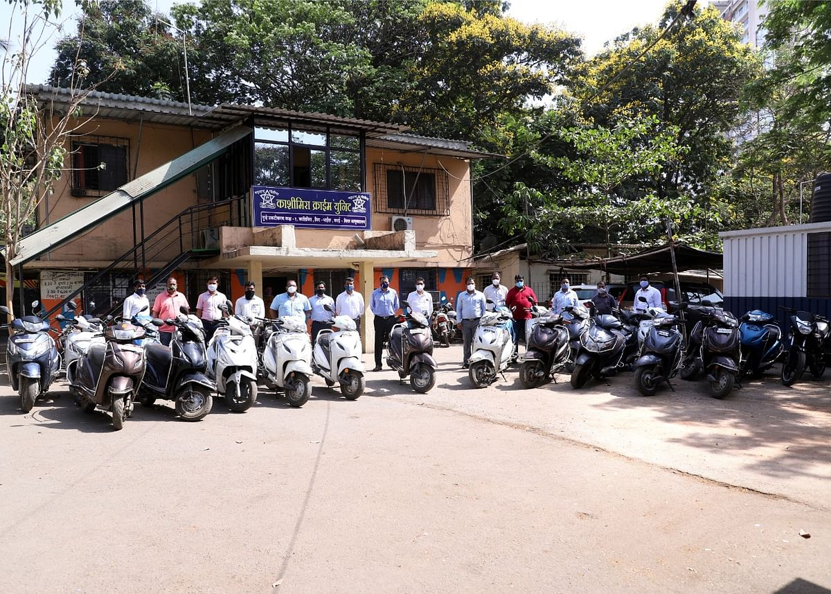 Mira Bhayandar: 25 bikes recovered after MBVV cops bust gang of bike thieves