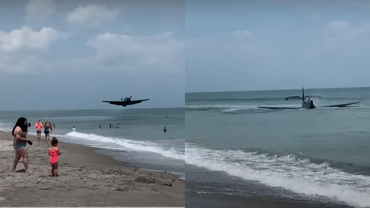 WATCH: Aircraft from World War II lands near Florida beach