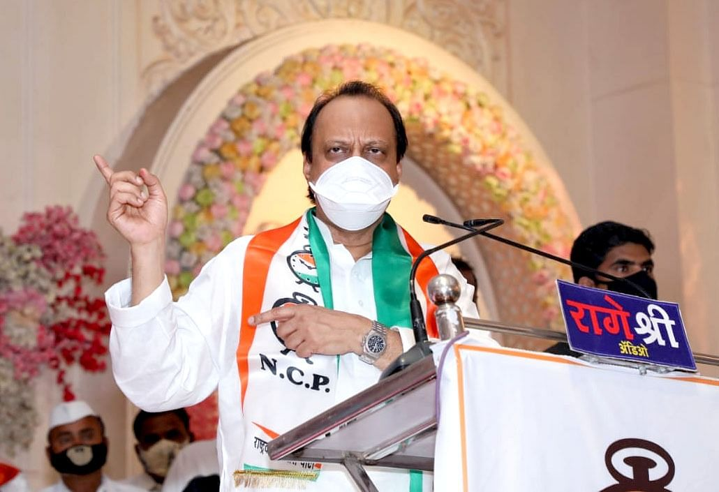 Pandharpur by-poll: Ajit Pawar addresses rally, BJP says COVID-19 norms violated