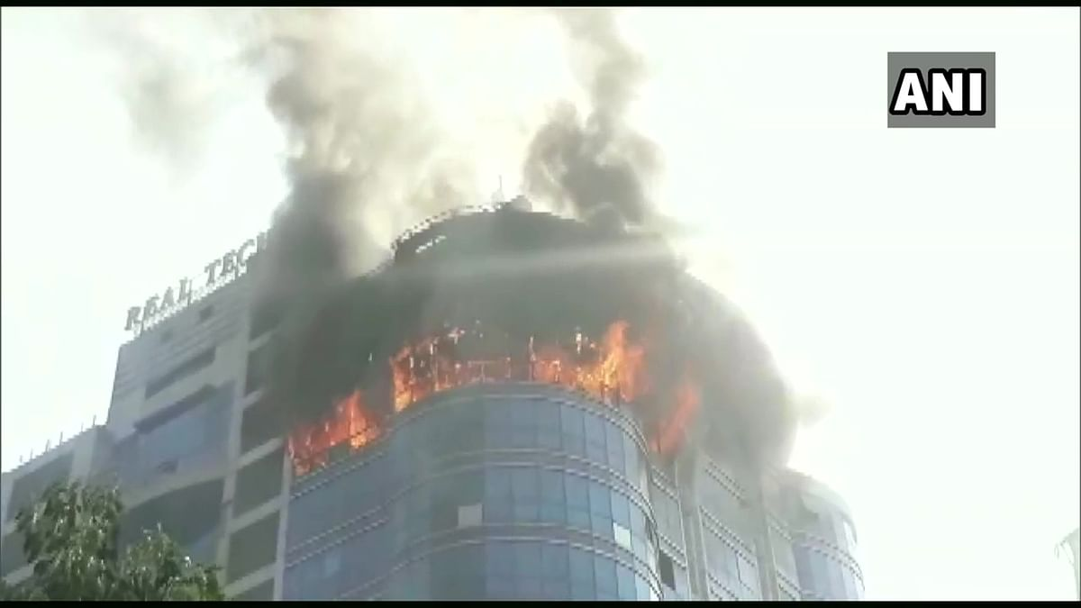Navi Mumbai: Major fire breaks out at Real Tech Park Tower; watch video