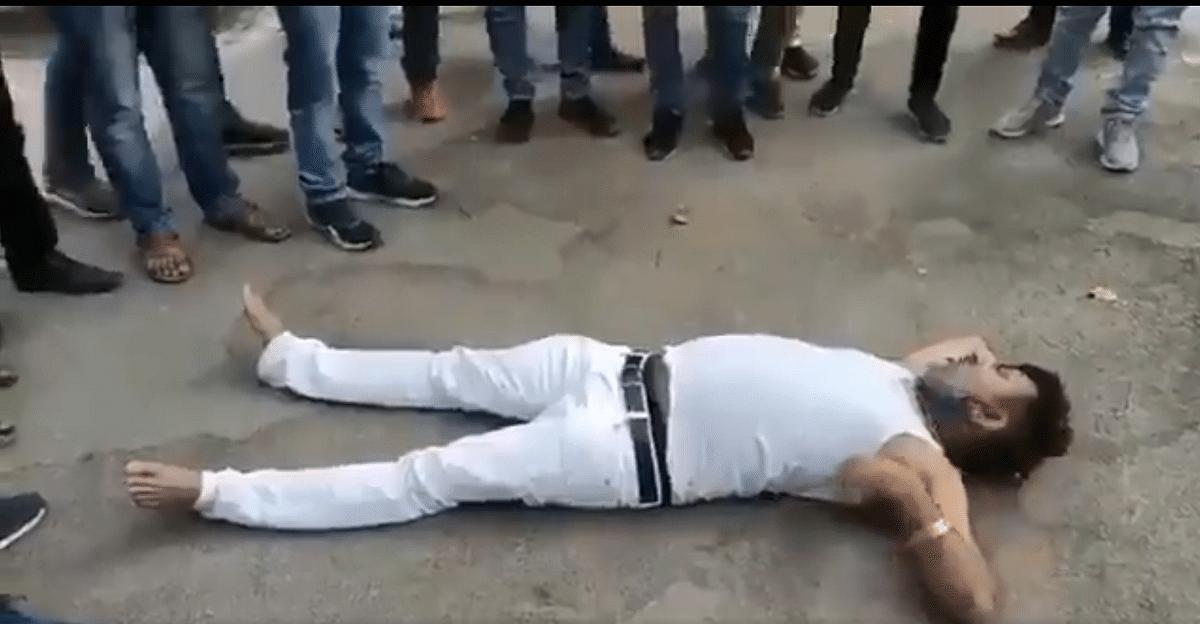 Uttar Pradesh: BJP MLA Dheeraj Ojha carries high-voltage drama at DM's residence; watch video