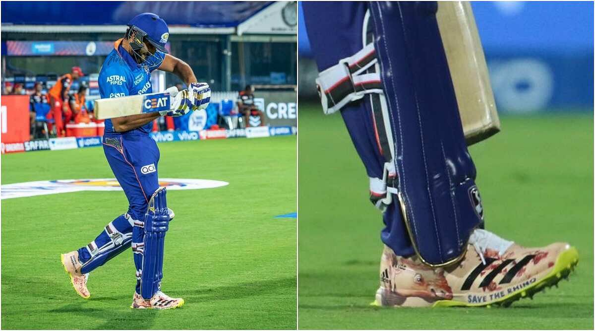 """""""Save The Rhino"""": Rohit Sharma walks in for a special cause in IPL opener"""