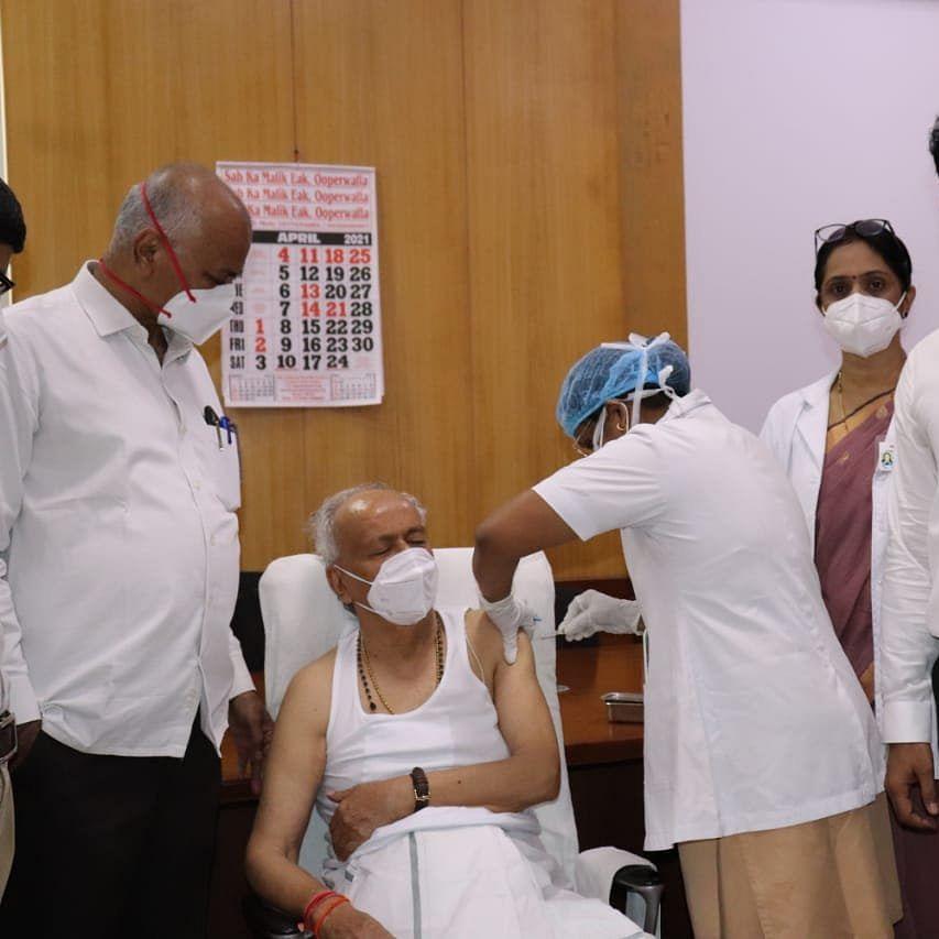 Maharashtra Governor Bhagat Singh Koshyari receives second dose of COVID-19 vaccine
