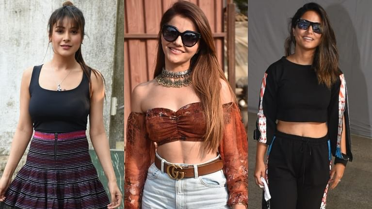 Paparazzi Files: 'Bigg Boss' beauties Shehnaaz Gill, Rubina Dilaik, Hina Khan and others spotted in Mumbai