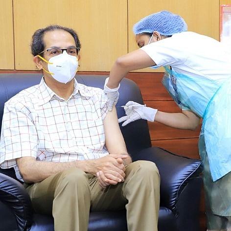 Maharashtra CM Uddhav Thackeray takes second dose of COVID-19 vaccine