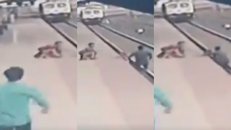 Mumbai: Pointsman Mayur Shelkhe saves life of child who fell on railway tracks - Watch video