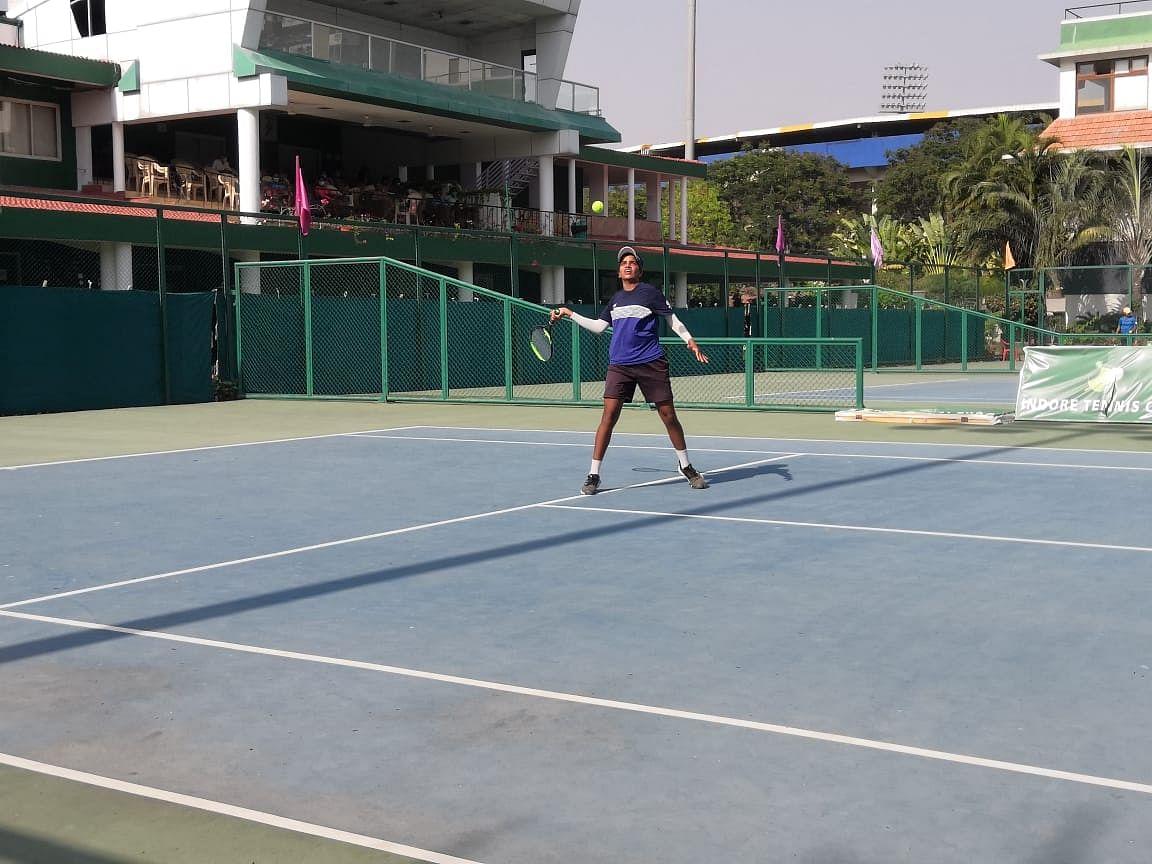 A tennis match on Thursday