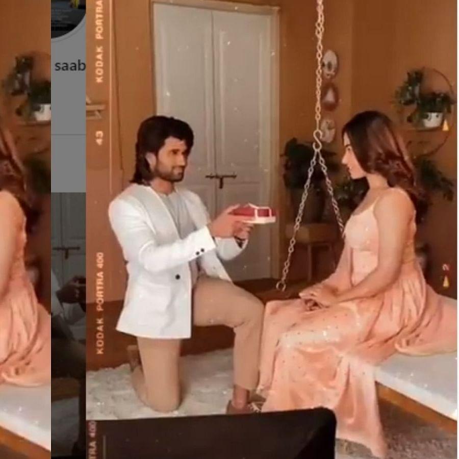 Watch: Vijay Deverakonda goes down on his knees to propose Rashmika Mandanna, video goes viral