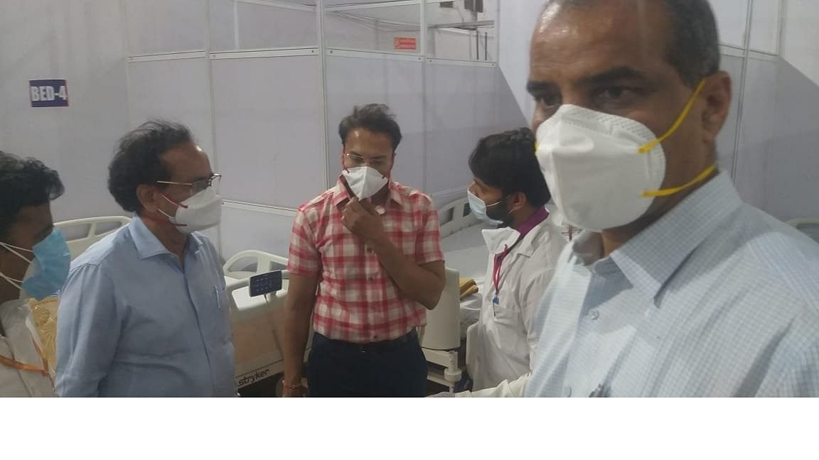 A Central team at the BKC Covid vaccination centre in Mumbai last week, to take stock of the situation